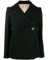 N°21 Двубортное Пальто С Поясом - Черный