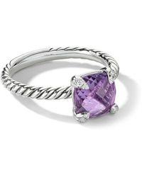 David Yurman Bague Châtelaine à diamants - Violet