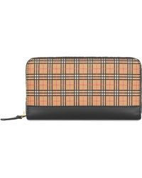Burberry - House Check Continental Wallet - Lyst