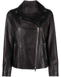 DESA NINETEENSEVENTYTWO Zipped Leather Biker Jacket - Black