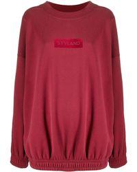 Styland ロゴ スウェットシャツ - レッド