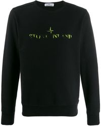 Stone Island - Sweater Met Contrasterend Logo - Lyst