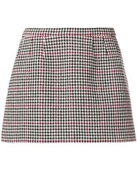RED Valentino - Houndstooth Print Skirt - Lyst