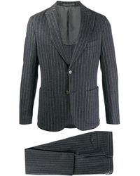 Eleventy - Pinstriped Single-breasted Suit - Lyst