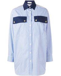 Sonia Rykiel Classic Striped Shirt - Blue
