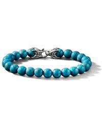 David Yurman - Bracciale Spiritual Beads con turchesi - Lyst