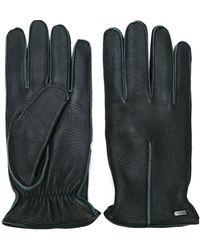 Dolce & Gabbana Trim Detail Gloves - Zwart