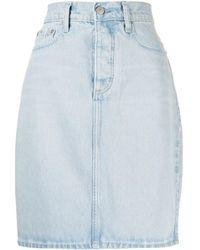 Nobody Denim Jupe Lou en jean à taille haute - Bleu