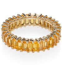 Dana Rebecca - 18kt Yellow Gold And Yellow Sapphire Set Ring - Lyst