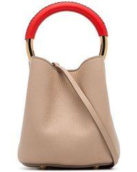 Marni Nude Pannier Leather Bucket Bag