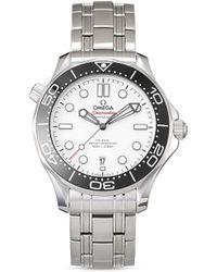 Omega Наручные Часы Seamaster Diver Co-axial Master Chronometer 42 Мм - Белый