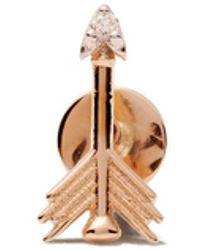 Kismet by Milka Orecchino a forma di freccia in oro rosa 14kt con diamante - Metallizzato