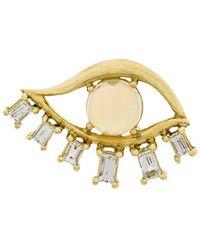 Ileana Makri - 18kt Yellow Gold Diamond Teared Eye Stud Earring - Lyst