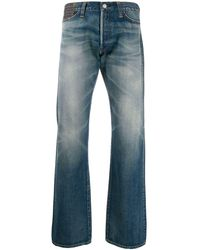 Junya Watanabe Jeans taglio straight con applicazioni - Blu