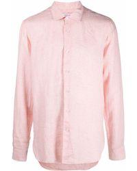 Orlebar Brown Camisa de manga larga - Naranja