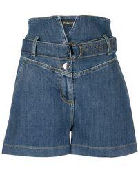 Pinko Hoch sitzende Jeans-Shorts - Blau