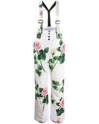 Dolce & Gabbana Skibroek Met Tropische Print - Wit