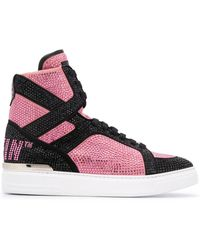 Philipp Plein Money Beast High-top Sneakers - Pink