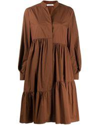 Dorothee Schumacher Ярусное Платье Оверсайз - Коричневый