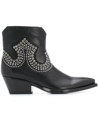 Sartore Frida ウエスタン ブーツ - ブラック
