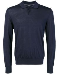 Z Zegna - Long-sleeve Fitted Polo Top - Lyst