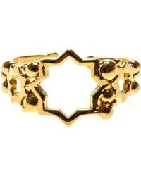 Leivan Kash - Cut Out Star Open Ring - Lyst