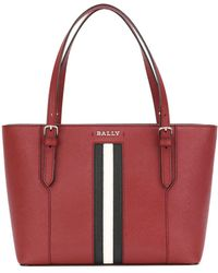 Bally - Striped Trim Tote Bag - Lyst