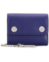 Mulberry Portemonnaie aus gekörntem Leder - Blau