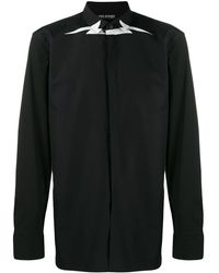 Neil Barrett - Lightning Bolt Printed Shirt - Lyst