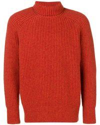 AMI タートルネックセーター - オレンジ