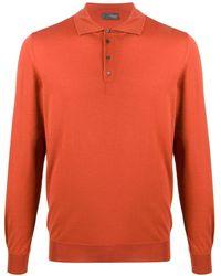 Drumohr メリノ ポロシャツ - オレンジ