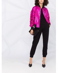 Karl Lagerfeld Бомбер Ikonik С Эффектом Металлик - Розовый
