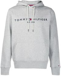 Tommy Hilfiger Tommy Logo Hoody Sweat-Shirt - Gris