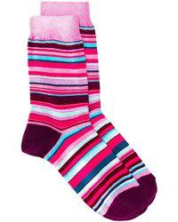 Paul Smith ストライプ靴下 - ピンク