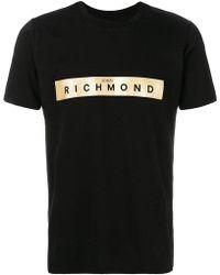 John Richmond | Logo Printed T-shirt | Lyst