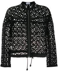 Ferragamo Куртка На Молнии С Перфорацией - Черный