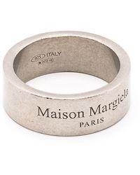 Maison Margiela Кольцо С Гравировкой И Эффектом Потертости - Металлик