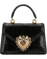 Dolce & Gabbana Devotion Draagtas Met Reliëf - Zwart