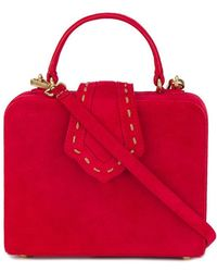 Mehry Mu - Mini Red Fey Suede Box Bag - Lyst