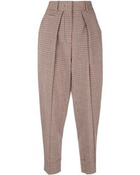 Cedric Charlier - Checked Trousers - Lyst