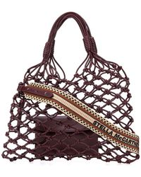 Stella McCartney Knotted Structure Tote - Red