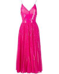 MSGM Плиссированное Платье С Пайетками - Розовый