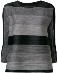 Pleats Please Issey Miyake - Loose-fit Striped Blouse - Lyst