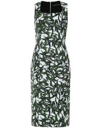 Andrea Marques - Foliage Print Shirt Dress - Lyst