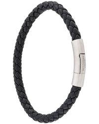 Tateossian Charles Braided Bracelet - Black