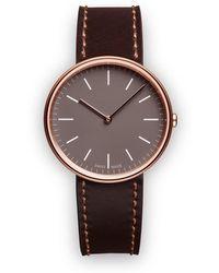 Uniform Wares M35 Twee-hand Horloge - Bruin