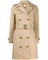 d623c765a50b85 Burberry Illustrated Print Trench Coat in Natural - Lyst