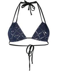 Zadig & Voltaire Star Print Bikini Top - Blue