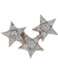 Kismet by Milka 14kt Rose Gold Struck Triple Star Diamond Stud - Metallic