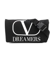 Valentino Garavani Vlogo Dreamers Belt Bag - Black